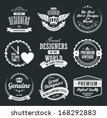 set of retro vintage badges and ... | Shutterstock .eps vector #168292883