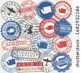 washington set of stamps.... | Shutterstock .eps vector #1682932186