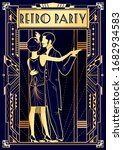 dancing couple at a party in... | Shutterstock .eps vector #1682934583