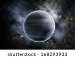 planets in fantastic space.... | Shutterstock . vector #168293933