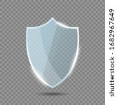 glass shield in front view.... | Shutterstock .eps vector #1682967649