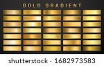collection of golden metallic... | Shutterstock .eps vector #1682973583