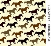 Seamless Pattern With Horse ...