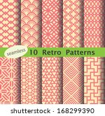 Stock vector retro pattern s unit collection for making seamless background 168299390