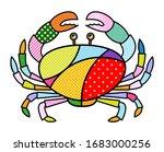 Crab Sea Life Isolated Modern...
