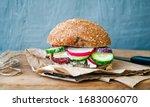 gluten free food. sandwich with ...