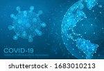 virus covid 19 and globe plexus ... | Shutterstock .eps vector #1683010213