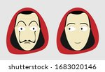 house of paper   angry man with ... | Shutterstock .eps vector #1683020146