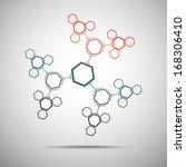 connect hexagonal cells in the... | Shutterstock .eps vector #168306410