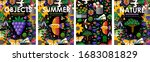 summer time  set posters of... | Shutterstock .eps vector #1683081829