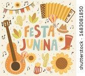 festa junina  vector cute... | Shutterstock .eps vector #1683081850