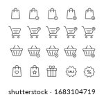 set of shopping bag and baslet... | Shutterstock .eps vector #1683104719