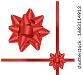 hand drawn decorative red bow... | Shutterstock .eps vector #1683114913