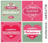 valentines day card | Shutterstock .eps vector #168312758