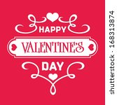 valentines day card | Shutterstock .eps vector #168313874
