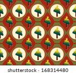 christmas trees pattern   Shutterstock .eps vector #168314480