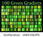 green gradients big set  nature ... | Shutterstock .eps vector #1683146293