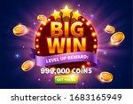 big win pop up ads with golden... | Shutterstock . vector #1683165949