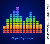 rainbow equalizer on dark... | Shutterstock .eps vector #168317240