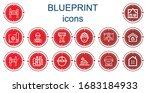 editable 14 blueprint icons for ... | Shutterstock .eps vector #1683184933