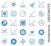 45 degree colored icons...