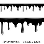 black paint dripping isolated...   Shutterstock .eps vector #1683191236