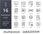 programming line icons. set of... | Shutterstock .eps vector #1683205549