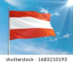 Austria National Flag Waving In ...