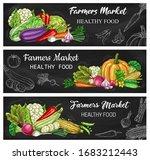 vegetable chalkboard banners... | Shutterstock .eps vector #1683212443