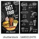 fast food restaurant blackboard ... | Shutterstock .eps vector #1683212470