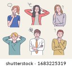 men and women are taking... | Shutterstock .eps vector #1683225319