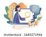 psychologist online. psychology.... | Shutterstock .eps vector #1683271966