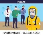 doctor with biohazard suit and... | Shutterstock .eps vector #1683314650