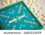 Scrabble Letters Spelling Stay...