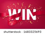 you win celebrating banner... | Shutterstock .eps vector #1683325693