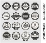 collection of vintage labels... | Shutterstock . vector #1683337000