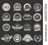 collection of vintage labels... | Shutterstock . vector #1683337003