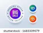special offer big sale round... | Shutterstock .eps vector #1683339079