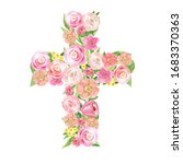Floral Easter Cross Watercolor. ...