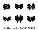 set of gift bows icons with... | Shutterstock .eps vector #1683372310