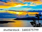 Sunset Lake Islnad Silhouette...
