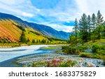 Mountain River Valley Landscap...