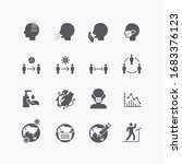corona covid19 virus icons flat ... | Shutterstock .eps vector #1683376123