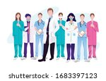 support medical staffs  doctor  ... | Shutterstock .eps vector #1683397123