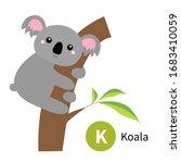 Letter K. Koala. Zoo Animal...
