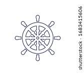 ship steering icon design...