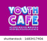 vector bright emblem youth cafe ... | Shutterstock .eps vector #1683417406