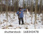 hunter after a successful hunt... | Shutterstock . vector #168343478