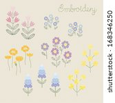 Embroidery Flower Pattern Vector
