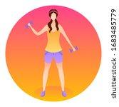 fitness training. healthy... | Shutterstock .eps vector #1683485779